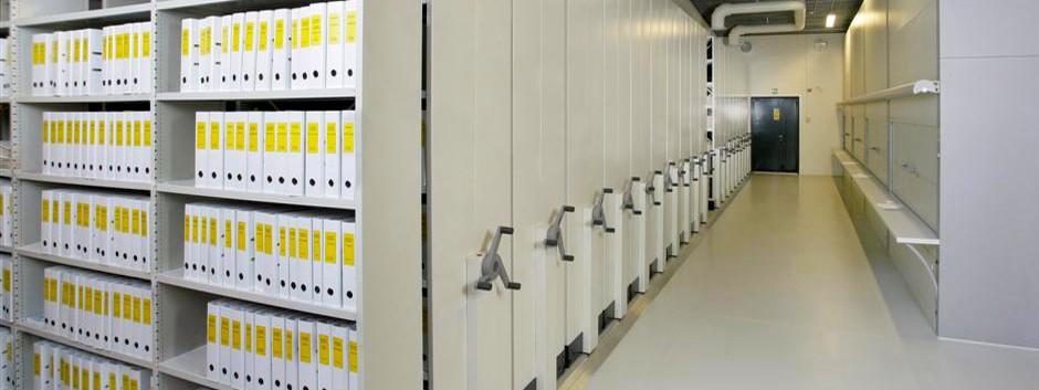 Rafturi mobile pentru arhiva